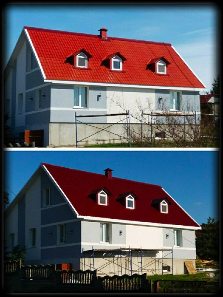 Покраска крыши 2х этажного дома