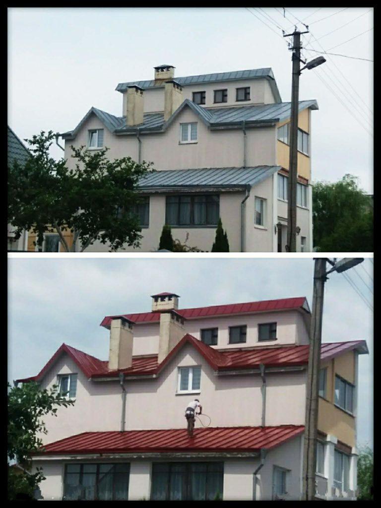 Покраска металлической крыши